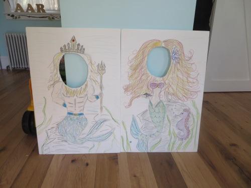 Mermaid Photo-op Boards for my daughter's birthday.