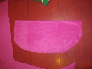 Lower body piece of Anna cape cut.