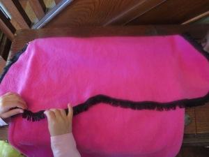 Anna cape bedazzled w/ trim.