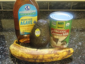 Allergy-friendly ice cream with coconut milk, avocado, banana, agave, ice and your food processor!