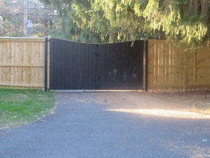 Inside view of our driveway gate.  It's like a blank canvas that keeps calling my name!