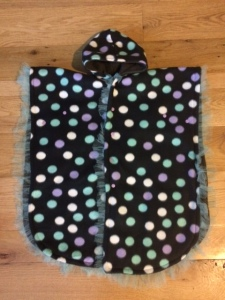 Convertible Car Seat Poncho (with snap sleeves).