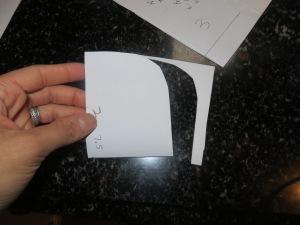 Folded in half and cut visor.