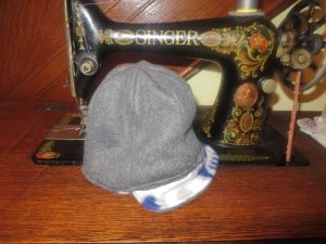 Inside of the hat.